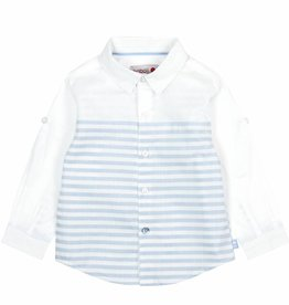 Boboli Boboli Poplin shirt for baby boy stripes-2
