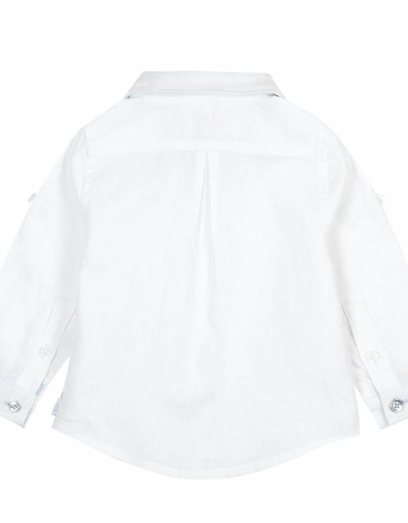 Boboli Boboli Linen shirt long sleeves for baby boy stripes
