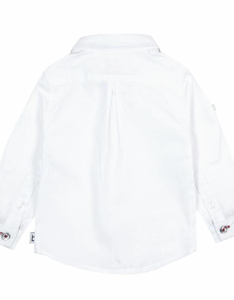 Boboli Boboli Linen shirt long sleeves for baby boy NAVY