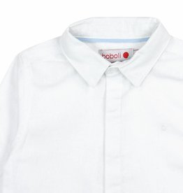 Boboli Boboli Linen shirt long sleeves for boy WHITE