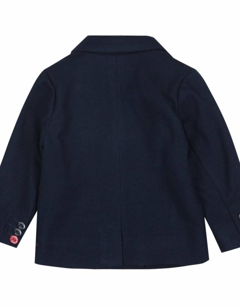 Boboli Boboli Knit blazer fantasy for baby boy NAVY