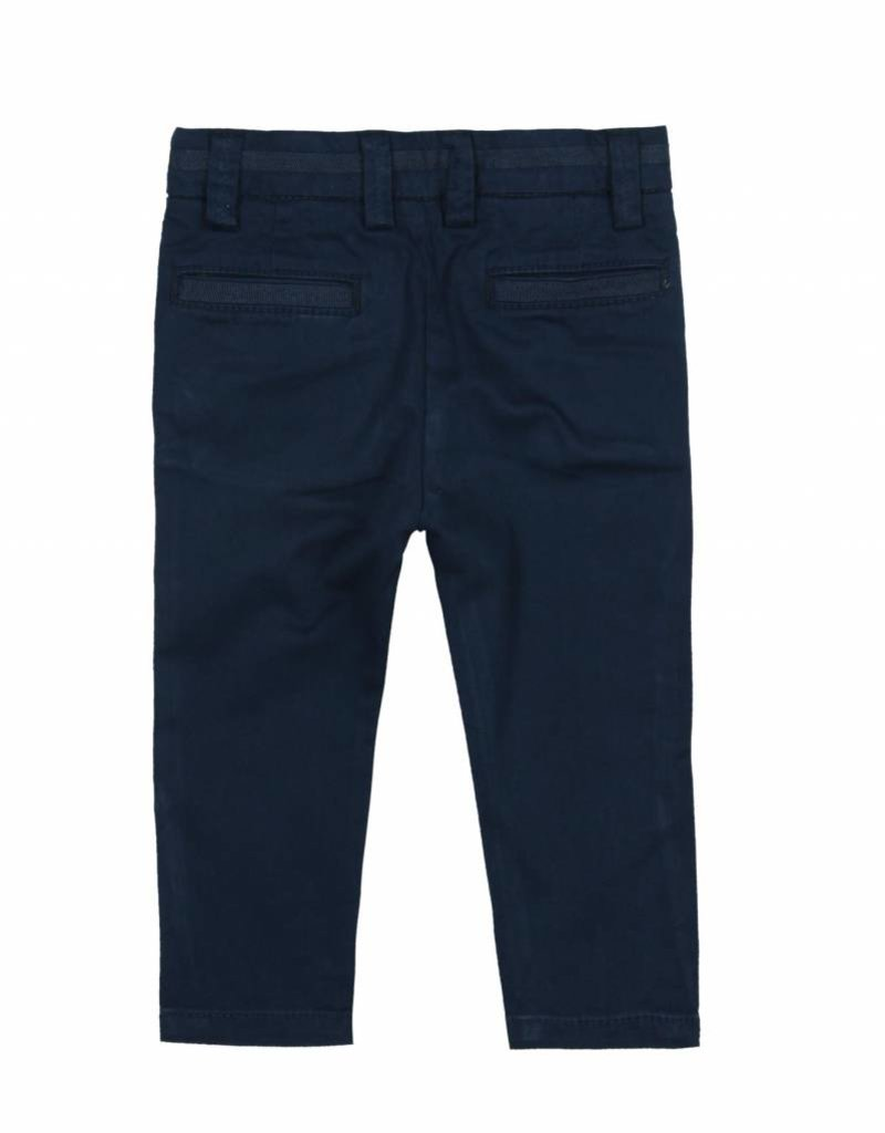 Boboli Boboli Stretch satin trousers for baby boy NAVY
