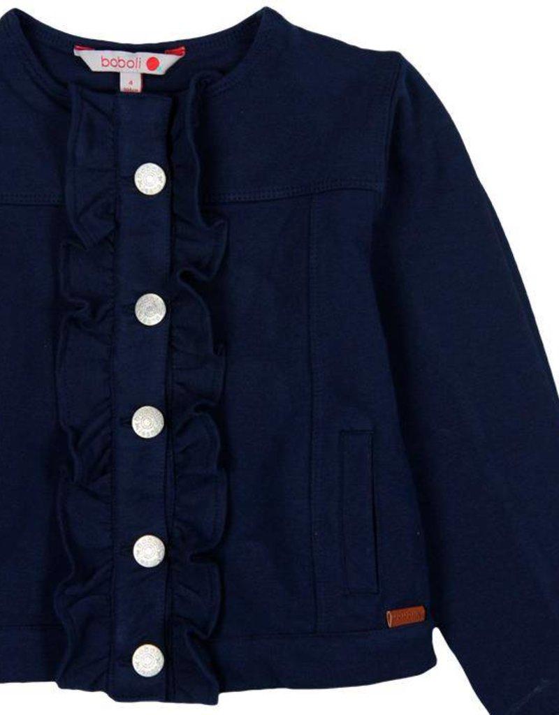 Boboli Boboli Fleece jacket stretch for girl NAVY