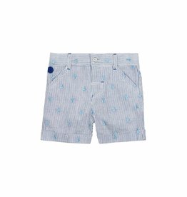 Boboli Boboli Poplin bermuda shorts for baby boy stripes-2