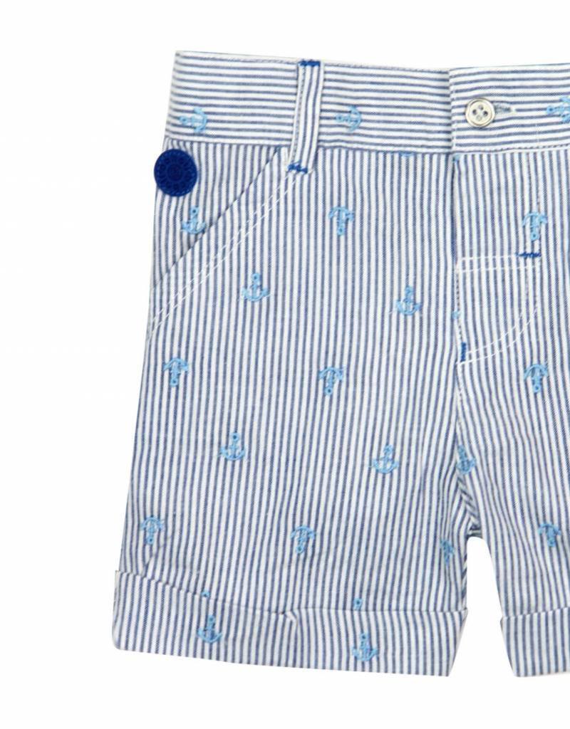 Boboli Boboli Poplin bermuda shorts for baby boy stripes-2
