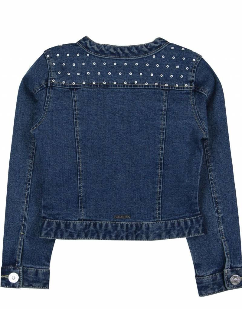 Boboli Boboli Denim jacket stretch for girl bleach