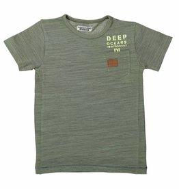 DJ DJ T-shirt ss A-DEEP OCEANS Army green melee