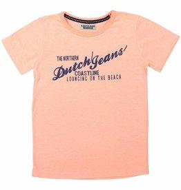 DJ DJ T-shirt ss A-ADVENTUROUS JOURNEY Faded coral