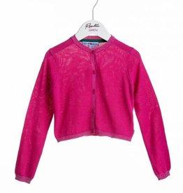 Rosalita Rosalita  Vestje hard roze gebreid met glitter randje