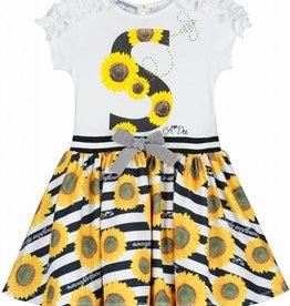 A'Dee ADee Jurk streep met zonnebloemen