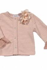 Magil Magil  Blazer oud roze met bloem en tuille manchet