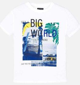 "Mayoral Mayoral S/s ""big world"" t-shirt White - 06047"