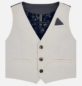 Mayoral Mayoral Tailored linen vest Stone - 03310