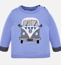 "Mayoral Mayoral ""van"" intarsia sweater Lightblue - 01312"