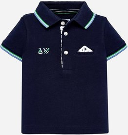 Mayoral Mayoral S/s polo Blue - 01117