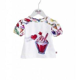 Rosalita Rosalita Shirt wit met ijsje