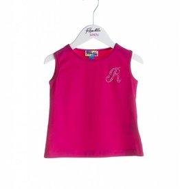 Rosalita Rosalita Shirt hard roze met glitter letter