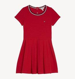 Tommy Hilfiger Tommy Hilfiger M PLEATED KNIT DRESS RED