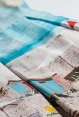 Jottum Jottum Jurk blauw met strand tafereeltje