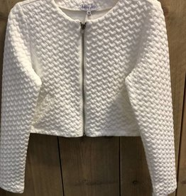 Happy Girls Happy Girls Blazer off white met zilveren rits