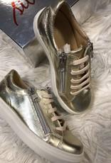eli Eli Sneaker LEER goud met rits