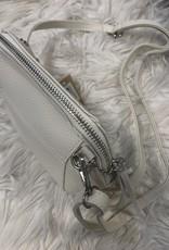 Tasje off white met lang  en kort hengsel