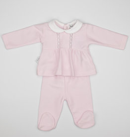 Babidu Babidu PATUCO YOKE COLLAR W/FOOTED PULL ON PANT PINK