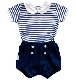 Babidu Babidu NAVY SET W/BABY COLLAR NAVY