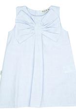 Babidu Babidu PLAIN CHAMBRAY DRESS W/BOW SKY BLUE