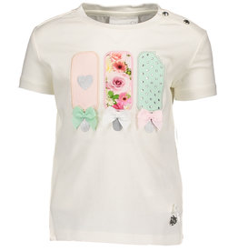 Le Chic Le Chic Shirtje off white met ijsje