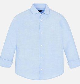 Mayoral Mayoral Basic linen l/s shirt Lightblue - 00872