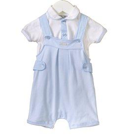 Blues baby Blues Baby broekje lichtblauw met wit shirt