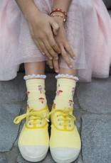 Bonnie Doon Bonnie Doon Sok geel/roze met ijsjes