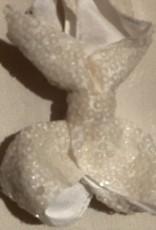 Haarknip  off whit glitter 5 cm breed