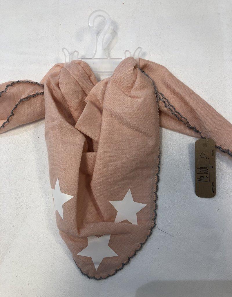 Sjaaltje zalm roze met ster voor baby/peuter