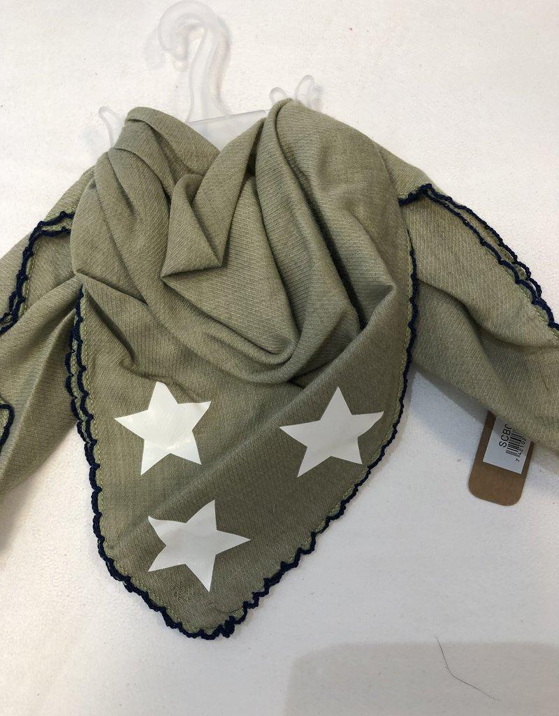 Sjaaltje groen met ster voor baby/peuter