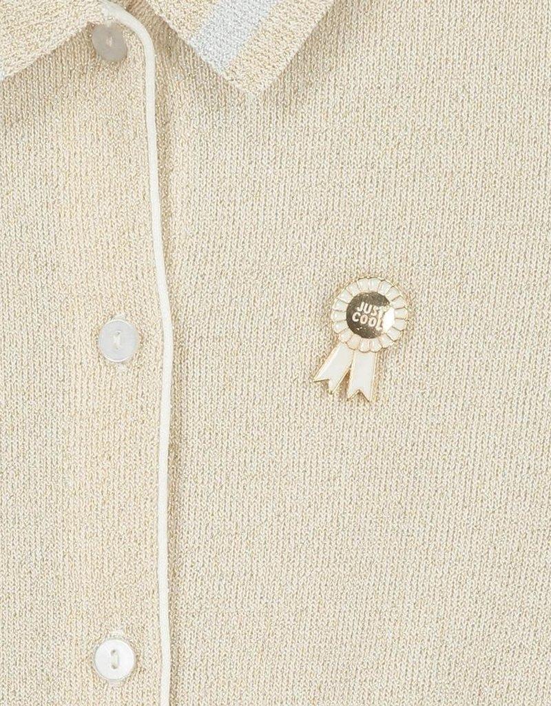 CKS CKS Vest goud met zilveren manchetten