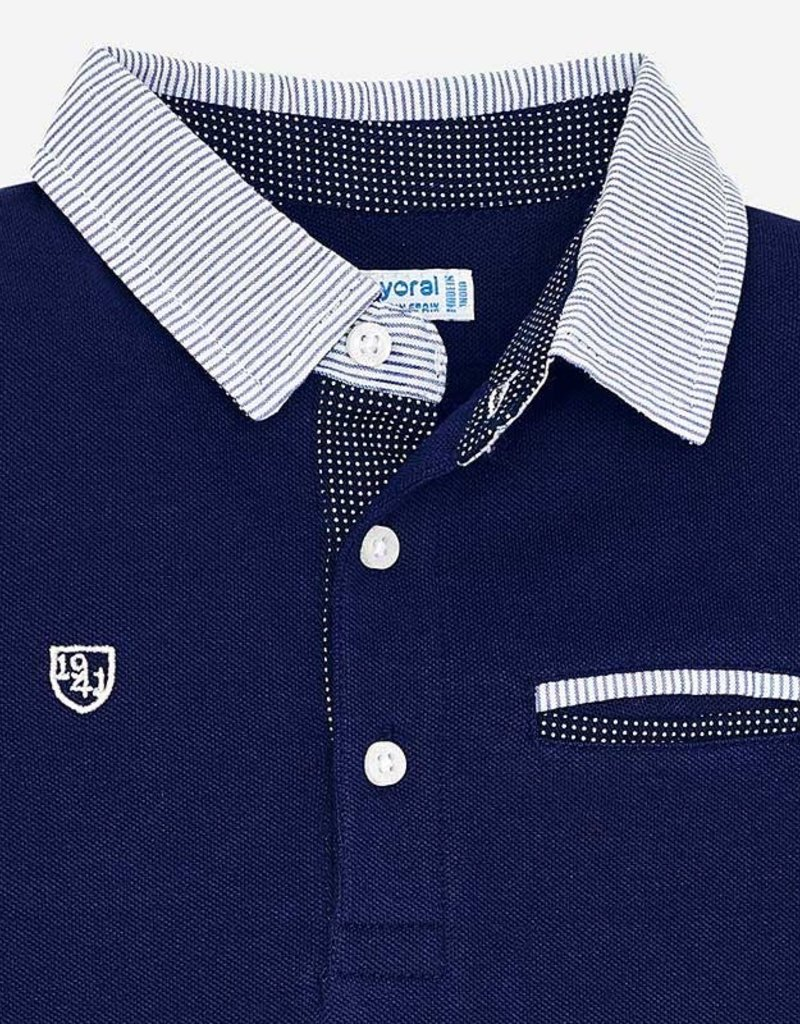 Mayoral Mayoral L/s Polo donkerblauw