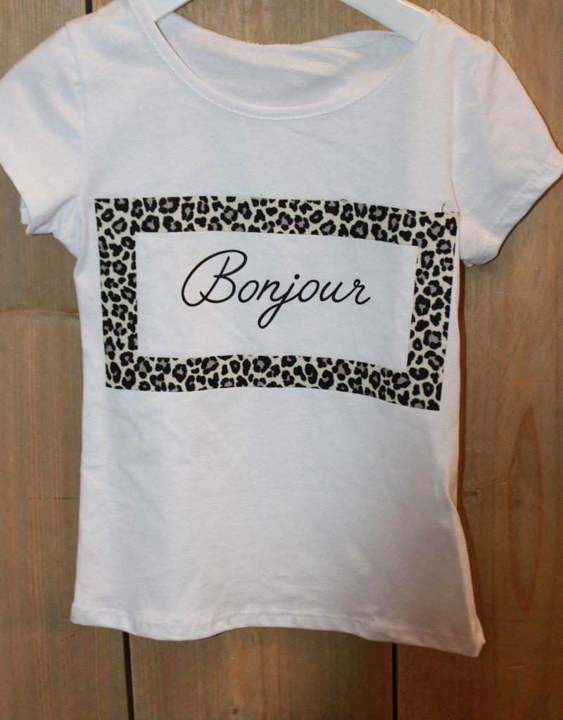 Villa Shirt wit  tijger BONJOUR