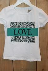 Villa Shirt wit Love tijger groen