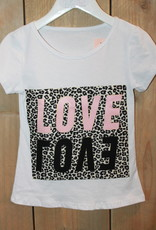 Villa Shirt wit Love tijger met roze letters