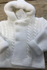 Baby jasje gebreid 0-3 maand wit