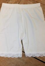 Legging off white voor onder rok met kant