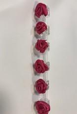 6 roosjes hard roze op rietje