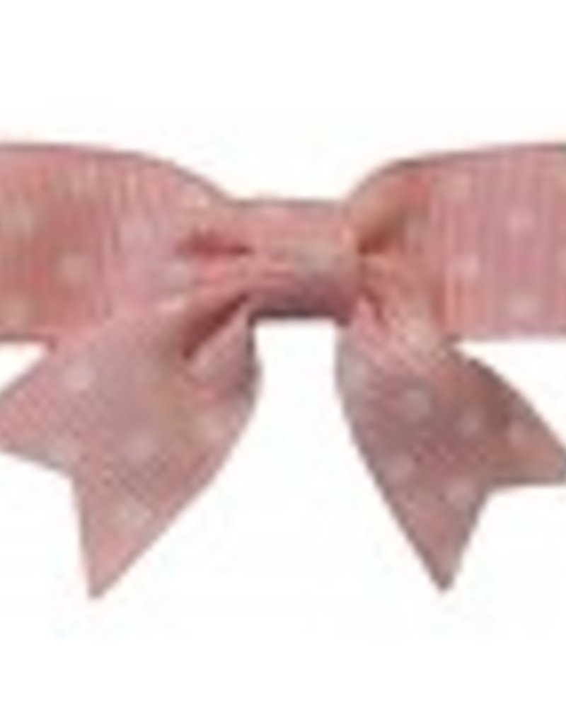Hairclippy Hairclippy Strik licht roze met witte stip