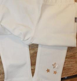Rumble Rumble Legging off white met gouden sterrren