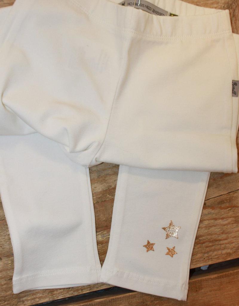 Rumble Legging off white met gouden sterrren