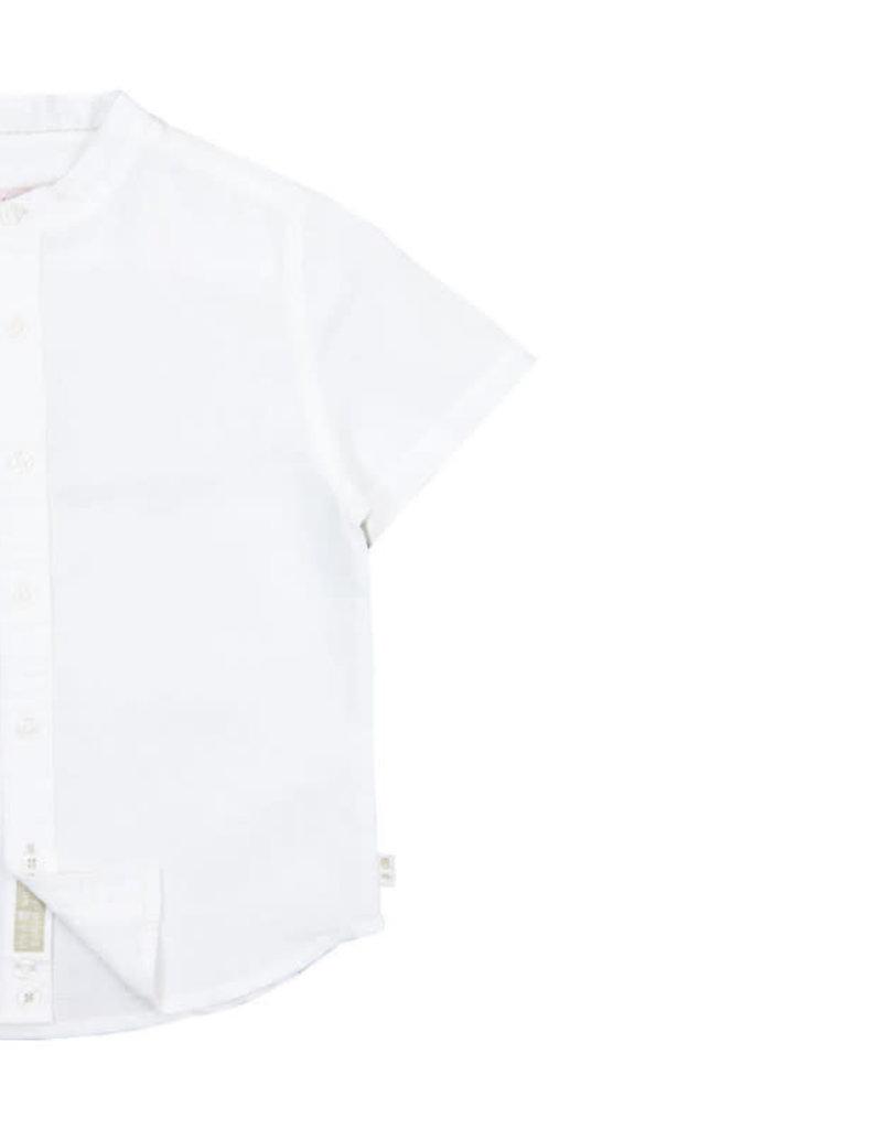Boboli Boboli Overhemd met opstaand boord WHITE