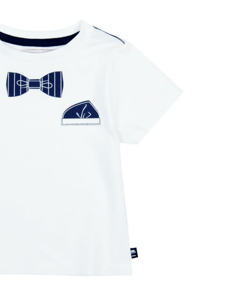 Boboli Boboli shirt white for baby boy strik