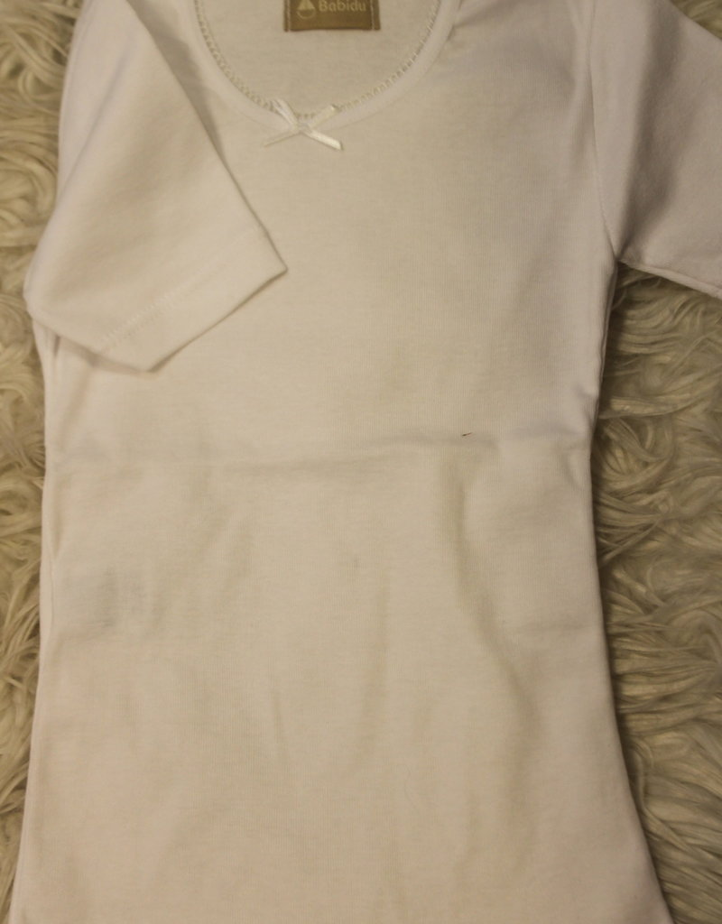 Babidu Babidu T Shirt wit met strikje